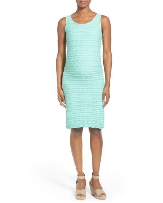 Tees by Tina | Blue Crinkle Stretch-Jersey Maternity Dress | Lyst