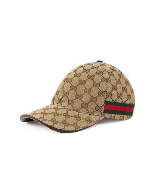 Gucci Natural Gg Canvas Cap for men