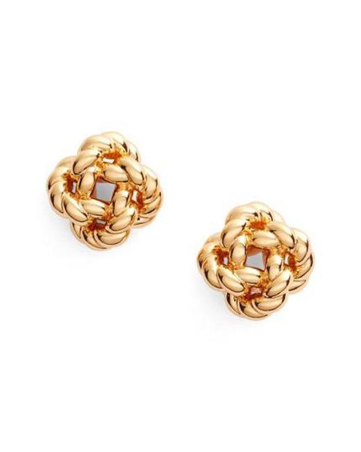 Tory Burch | Metallic Rope Knot Stud Earrings | Lyst