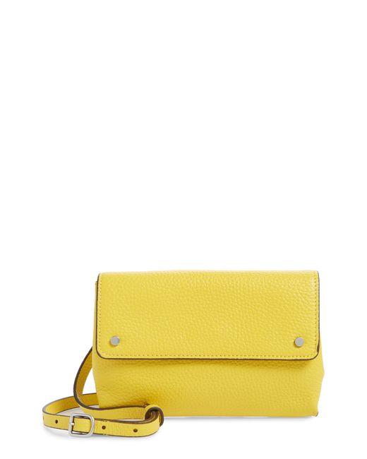 Treasure & Bond Yellow Shawn Leather Crossbody Phone Case