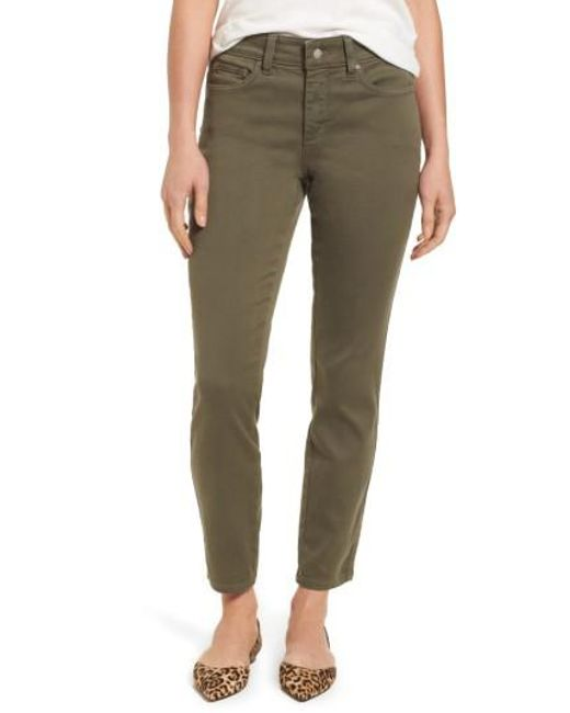 NYDJ | Green Ami Colored Stretch Skinny Jeans | Lyst