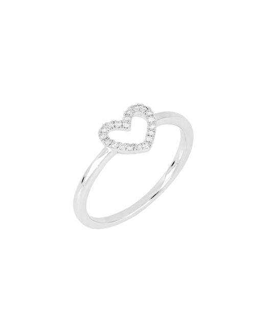 CARRIERE JEWELRY - Metallic Carriere Open Heart Diamond Ring (nordstrom Exclusive) - Lyst