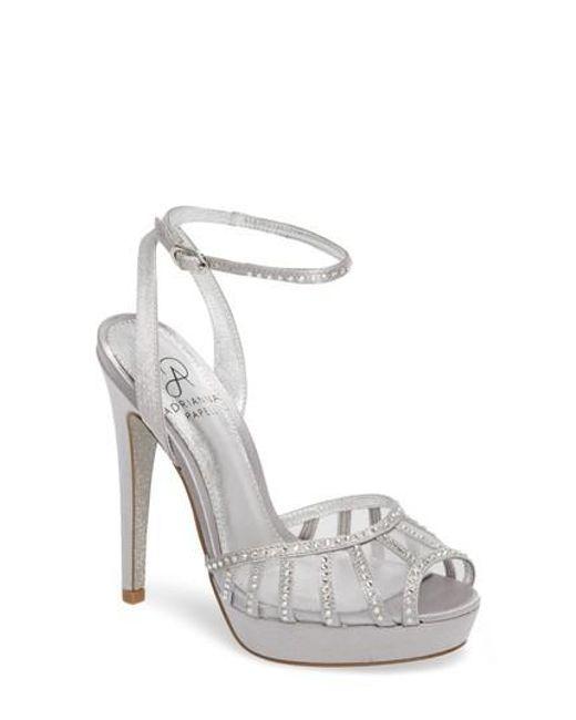 Adrianna Papell Women's Simone Crystal Embellished Platform Sandal ccwXq8NKbS