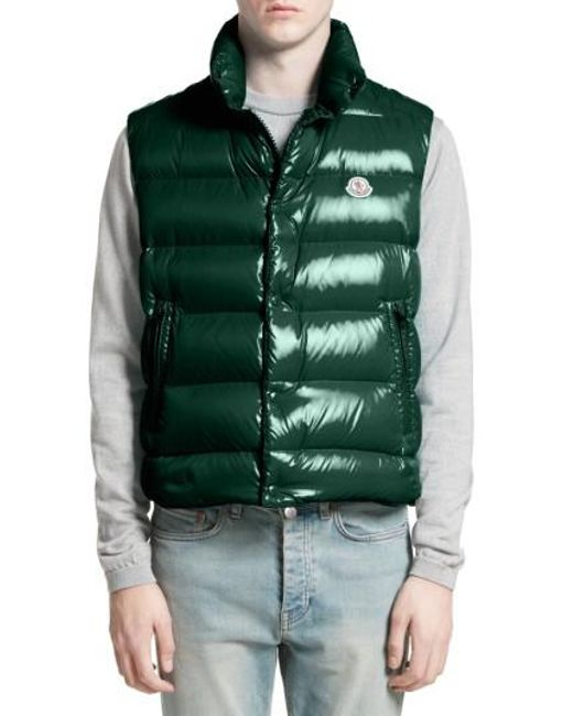 Moncler   Green Tib Lacquered Down Vest for Men   Lyst