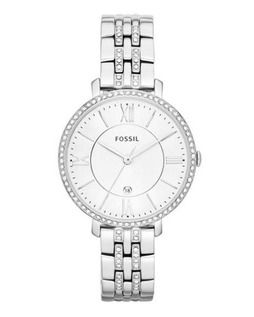 Fossil | Metallic 'jacqueline' Crystal Bezel Bracelet Watch | Lyst