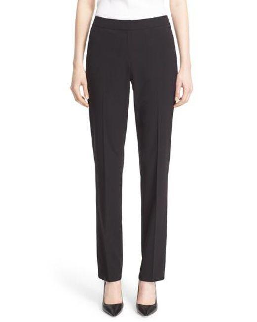 Lafayette 148 New York | Black 'barrow' Stretch Wool Pants | Lyst