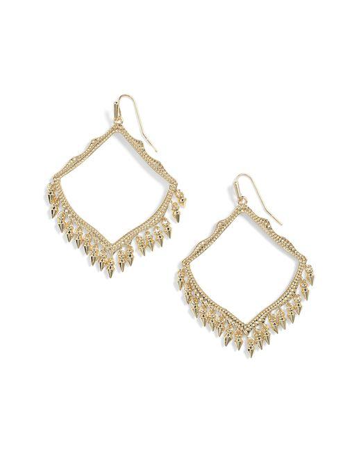 Kendra Scott - Metallic Lacy Drop Earrings - Lyst