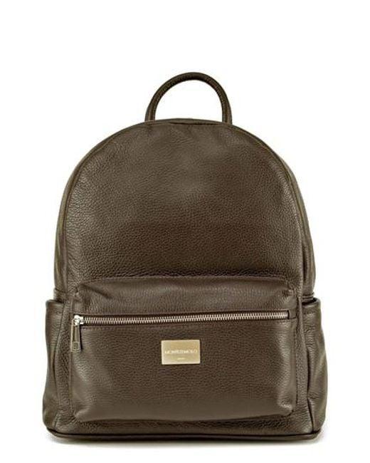 Montezemolo - Red Leather Backpack for Men - Lyst