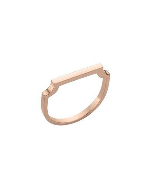 Monica Vinader | Metallic Signature Thin Ring | Lyst