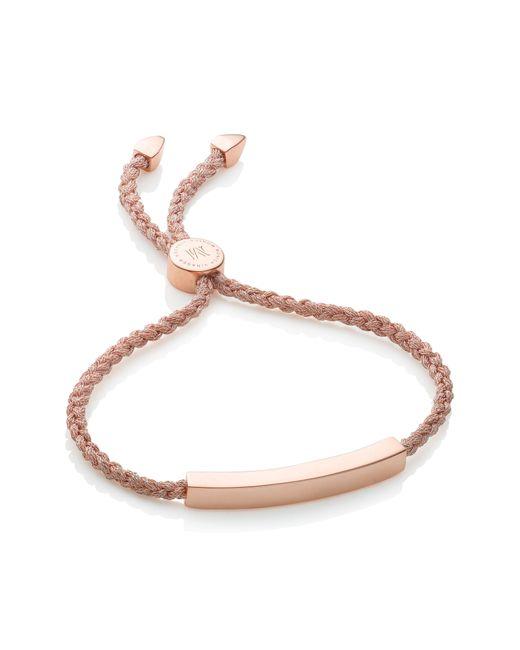 Monica Vinader - Pink Engravable Linear Friendship Bracelet - Lyst