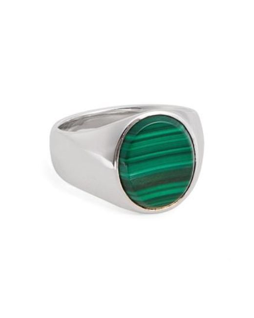 Tom Wood | Metallic 'patriot Collection' Oval Malachite Signet Ring | Lyst