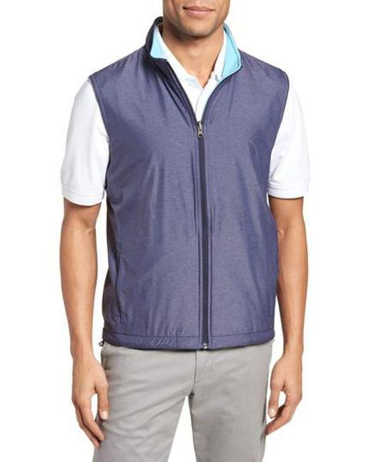 Peter Millar - Blue Carthage Reversible Vest for Men - Lyst