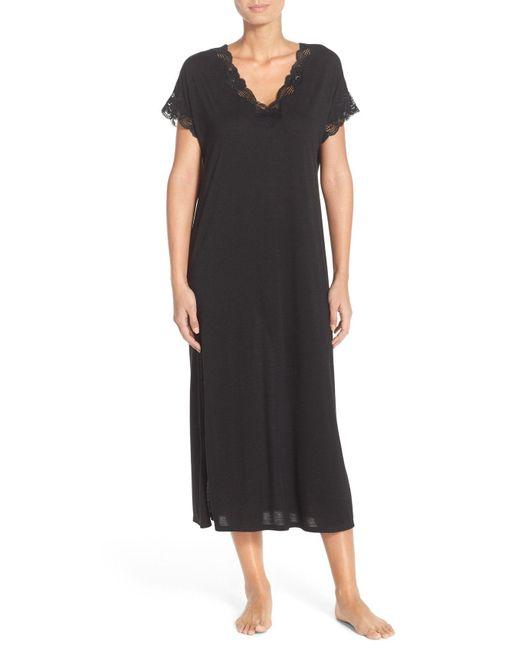Natori - Gray 'zen' Short Sleeve Nightgown - Lyst