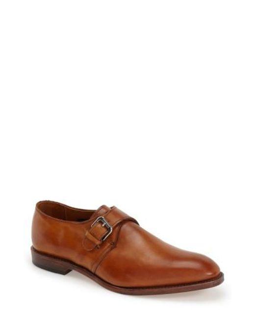 Allen Edmonds | Brown Warwick Monk Strap Shoe for Men | Lyst