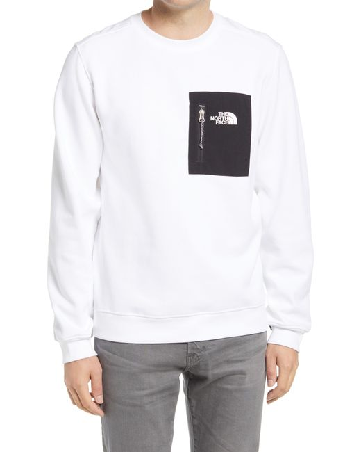 The North Face White Tech Crewneck Sweatshirt for men