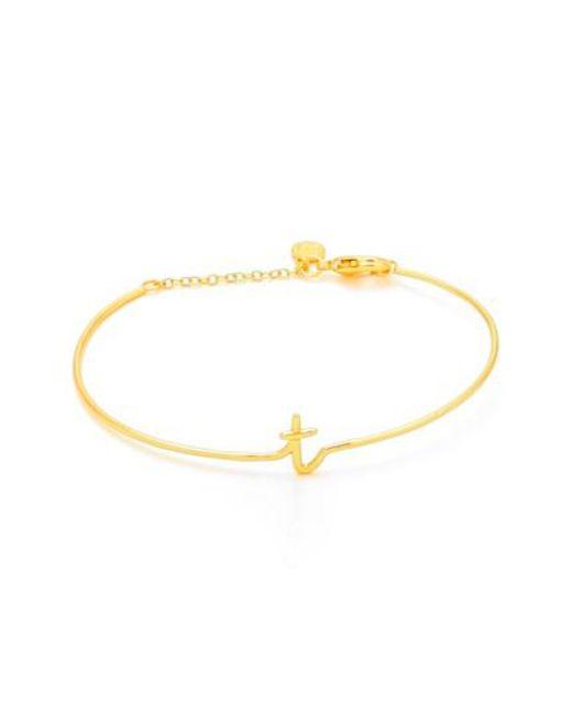 Gorjana | Metallic Alphabet Bracelet | Lyst