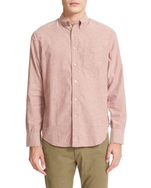 Rag & Bone | Pink Standard Issue Trim Fit Sport Shirt for Men | Lyst
