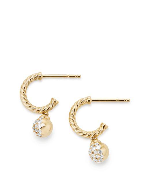 3b35d909012d4 Women's Metallic Solari Hoop Pavé Earrings With Diamonds In 18k Gold