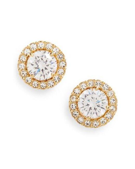 Nadri | Metallic Round Cubic Zirconia Stud Earrings | Lyst