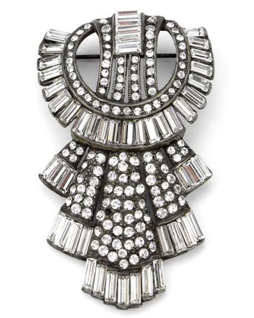 Ben-Amun - Metallic Ben Amun Deco Brooch - Lyst