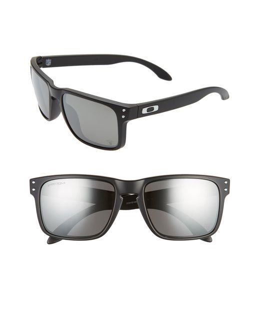 Oakley Gray Nfl Holbrook 57mm Sunglasses - Oakland Raiders for men