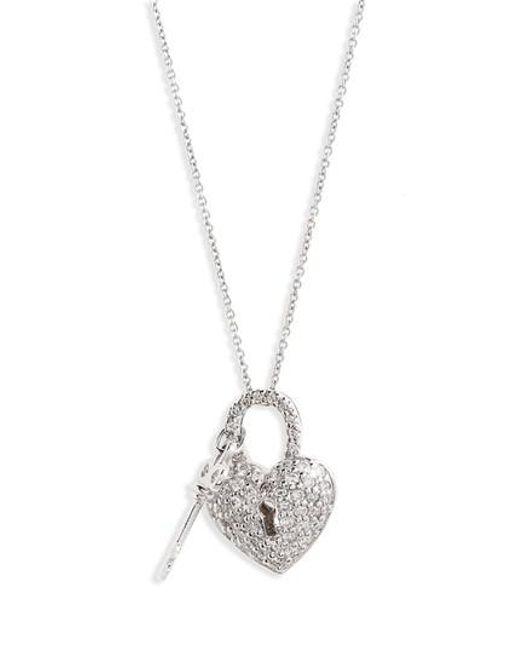 Lyst roberto coin diamond heart lock pendant necklace in metallic roberto coin metallic diamond heart lock pendant necklace lyst aloadofball Gallery