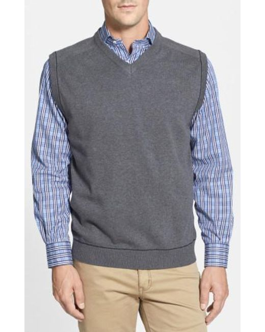 Cutter & Buck   Gray 'broadview' V-neck Sweater Vest for Men   Lyst