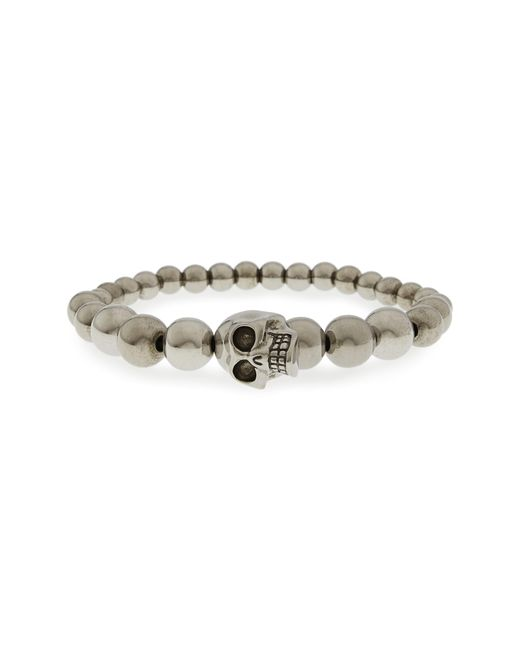 Alexander McQueen - Metallic Skull Ball Bracelet for Men - Lyst
