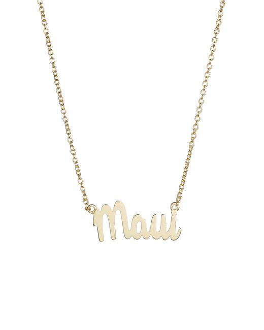 Argento Vivo - Metallic Script Maui Pendant Necklace - Lyst