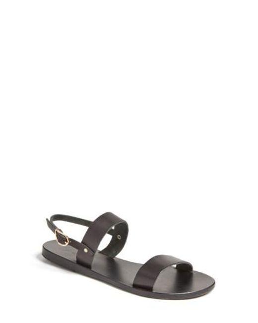 Ancient Greek Sandals | Black Clio Slingback Sandal | Lyst