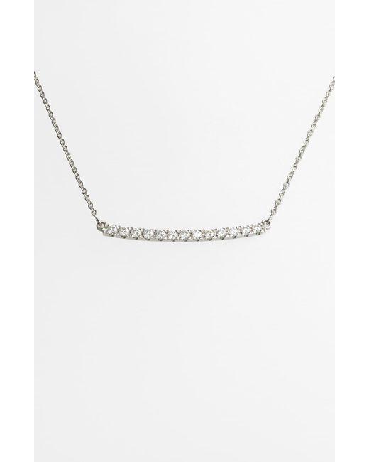 Bony Levy Metallic Stick Pavé Diamond Bar Necklace (nordstrom Exclusive)