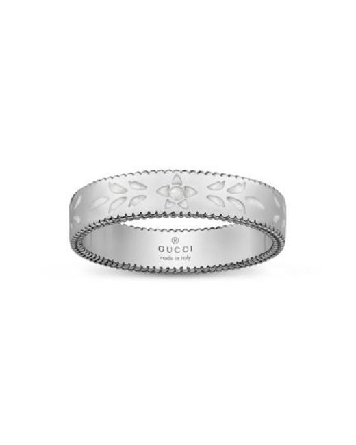 Gucci | Metallic Icon Thin Band Ring | Lyst