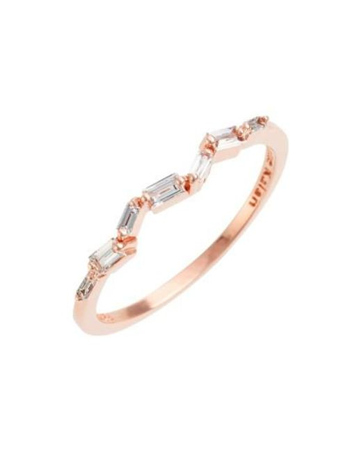 Suzanne Kalan | Pink Thin Baguette Stacking Band Ring | Lyst