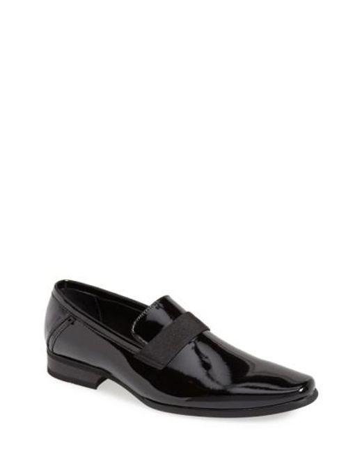 Calvin Klein | Black 'bernard' Venetian Loafer for Men | Lyst
