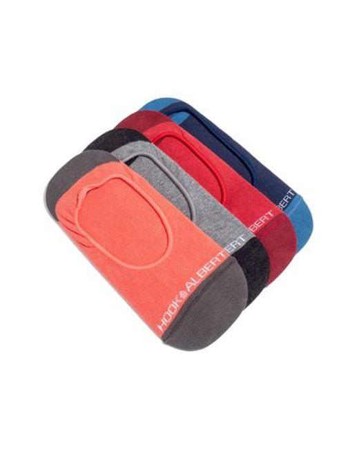 Hook + Albert - 4-pack Liner Socks, Red for Men - Lyst