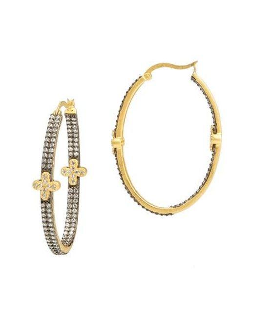 Freida Rothman | Metallic 'metropolitan' Inside Out Hoop Earrings | Lyst