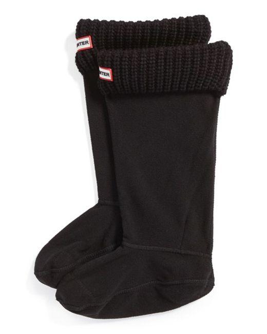 Hunter   Black Tall Cardigan Knit Cuff Welly Boot Socks   Lyst
