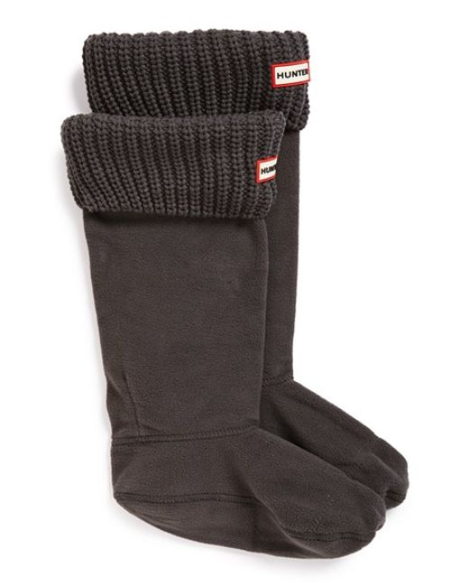 Hunter | Gray Tall Cardigan Knit Cuff Welly Boot Socks | Lyst