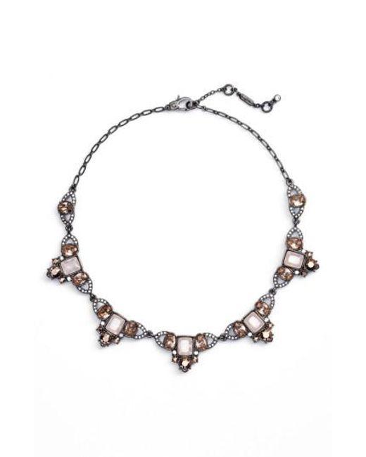 Jenny Packham   Metallic Collar Necklace   Lyst