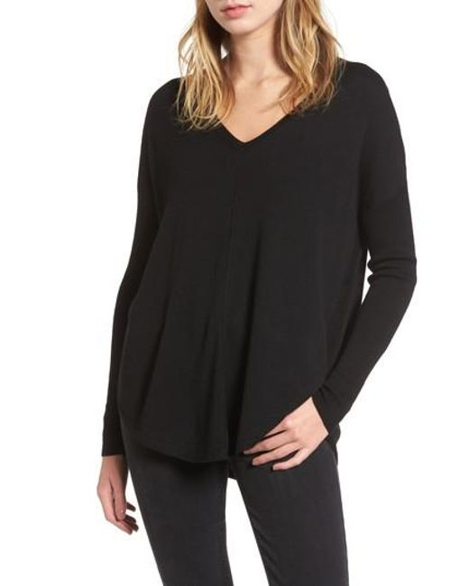 Trouvé | Black 'everyday' V-neck Sweater | Lyst