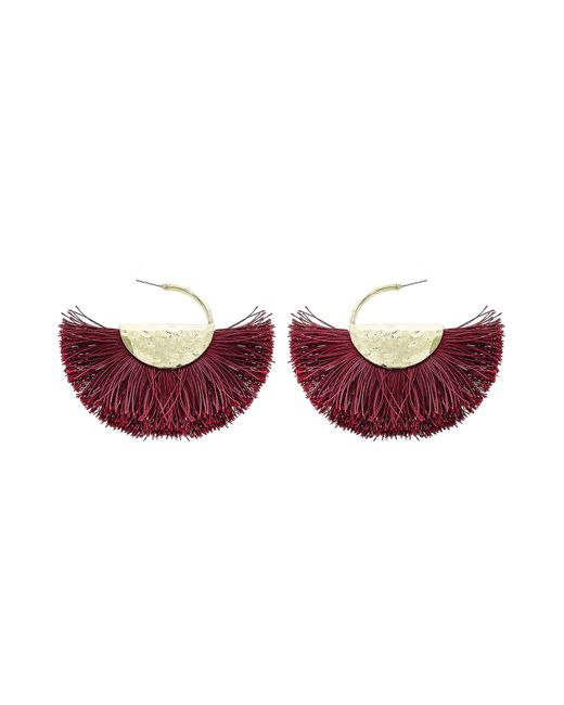 Panacea Multicolor Fringe Fan Earrings