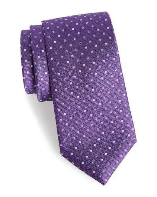 Calibrate | Purple Denson Neat Silk Tie for Men | Lyst