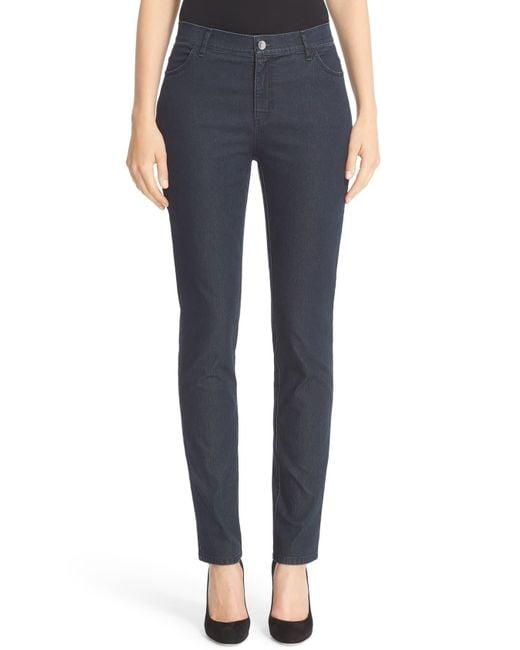Lafayette 148 New York Natural 'primo Denim' Curvy Fit Slim Leg Jeans