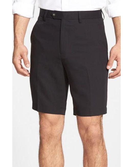 Cutter & Buck - Black Microfiber Twill Shorts for Men - Lyst