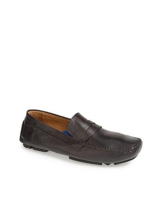 Robert Zur | Black 'sven' Penny Loafer for Men | Lyst