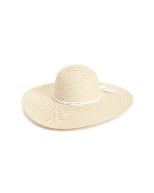 Caslon - Natural Caslon Floppy Hat - Lyst