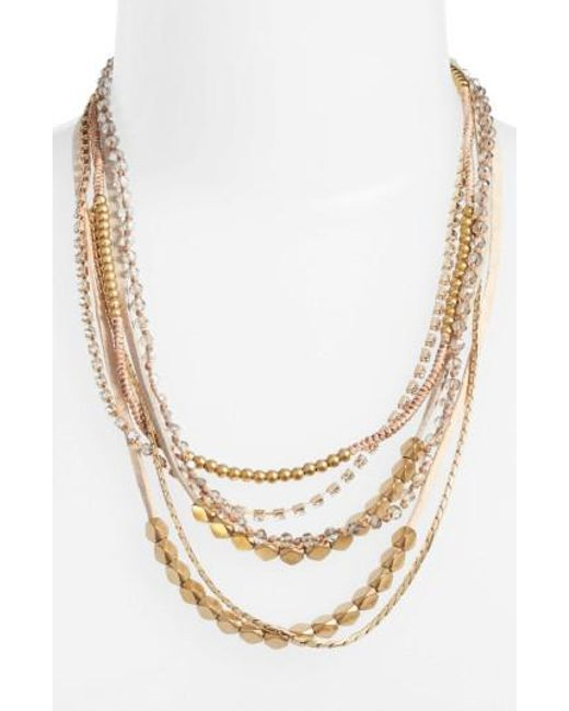 Serefina | Natural Mixed Media Statement Necklace | Lyst