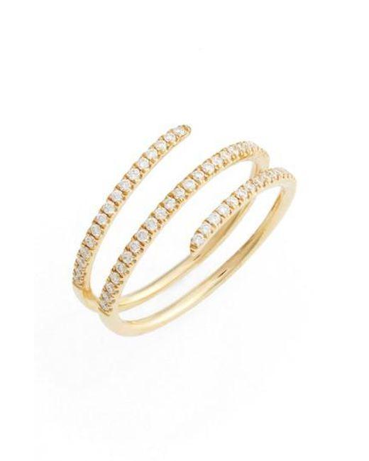 Bony Levy   Metallic Diamond Spiral Ring (nordstrom Exclusive)   Lyst