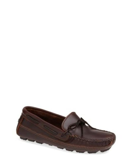Minnetonka | Brown Leather Driving Shoe for Men | Lyst