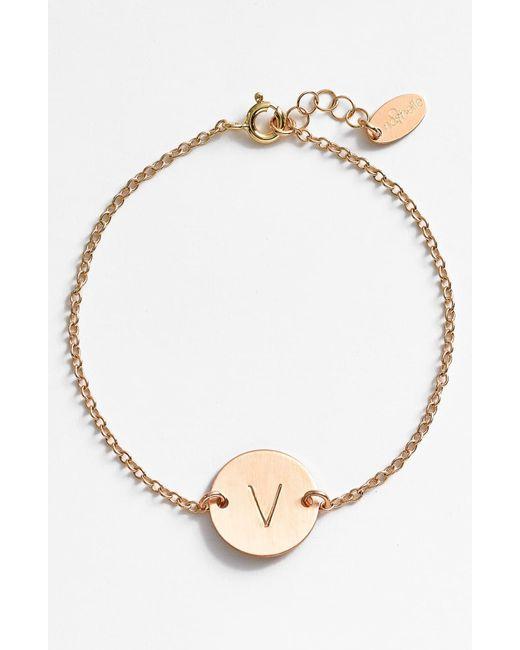 Nashelle Metallic 14k-gold Fill Initial Disc Bracelet